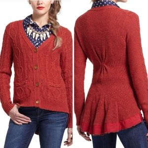 Anthro Far Away From Close Chunky Knit Cardigan